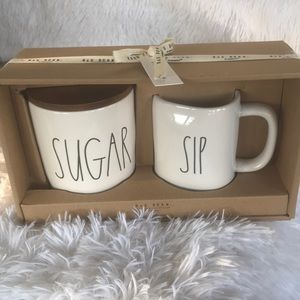 Rae Dunn NWT SUGAR Cellar Canister Containers Set